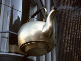 Giant Scollay Square Tea Kettle Hanging from Building, Boston, Suffolk County, Massachusetts, USA Photographic Print