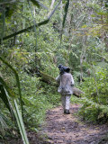 Photographer Walking on a Trail in a Rainforest, Andasibe-Mantadia National Park, Madagascar Photographic Print