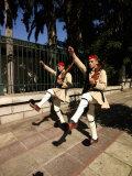 Evzones Performing Change of Guard on Herodou Attikou Street, National Garden of Athens, Greece Photographic Print