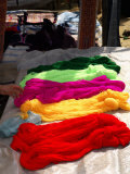 Various Colored Yarn for Sale at a Market, Bac Ha Sunday Market, Lao Cai Province, Vietnam Photographic Print