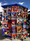 Pillow Covers for Sale at a Handicraft Market, Otavalo, Imbabura Province, Ecuador Photographic Print