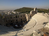 View of an Amphitheater, Odeon of Herodes Atticus, Acropolis, Athens, Attica, Greece Photographic Print