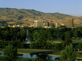 Park in a City, Ann Morrison Park, Boise, Ada County, Idaho, USA Photographic Print
