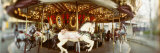 Carousel Horses in Amusement Park, Seattle Center, Queen Anne Hill, Seattle, Washington State, USA Photographic Print by  Panoramic Images