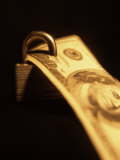 One Hundred Dollar Bill with a Padlock Photographic Print