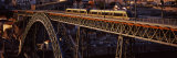 Metro Train on a Bridge, Dom Luis I Bridge, Duoro River, Porto, Portugal Photographic Print by  Panoramic Images