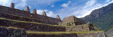 Ruins of Staircase, Machu Picchu, Cusco Region, Peru Photographic Print by  Panoramic Images