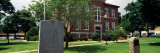 Tombstone with Courthouse, Confederate Monument, Boone County Courthouse, Harrison, Arkansas Photographic Print by Panoramic Images 