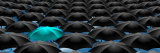 Infinite Umbrellas with a Blue One Photographic Print by  Panoramic Images