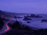 Highway Along the Coast, Us Route 101, Cape Sebastian State Scenic Corridor, Oregon, USA Photographic Print