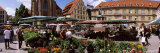 Group of People in a Street Market, Schillerplatz, Stuttgart, Baden-Wurttemberg, Germany Photographic Print by  Panoramic Images