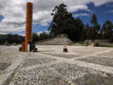 The More Accurate Equatorial Monument, This Monument Located Using Gps Technology, Cayambe, Ecuador Photographic Print