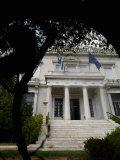 Entrance of a Museum, Benaki Museum, Vassilissis Sofias Avenue, Kolonaki, Athens, Attica, Greece Photographic Print