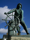 Memorial Statue to Fishermen Lost at Sea, Gloucester, Cape Ann, Essex County, Massachusetts, USA Photographic Print