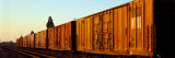 Freight Train on the Railroad Tracks, Central Valley, California, USA Photographic Print by  Panoramic Images