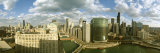 View of Skyscrapers Along a River in a City, Chicago River, Chicago, Illinois, USA Photographic Print by  Panoramic Images