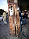 Old Fuel Pump Along a Street, San Francisco Street, San Miguel De Allende, Guanajuato, Mexico Photographic Print