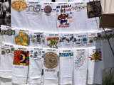 T-Shirts for Sale in a Street Market, Taxco, Guerrero, Mexico Photographic Print