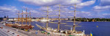 Ships Anchored in the Sea, Stadsgarden, Stockholm, Sweden Photographic Print by  Panoramic Images