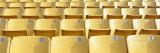 Empty Yellow Seats in a Stadium, Soldier Field, Chicago, Illinois, USA Fotografisk trykk av Panoramic Images,