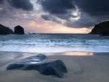 Sunset on Dalbeg Beach, Isle of Lewis, Hebrides, Scotland, UK Papier Photo par Nadia Isakova