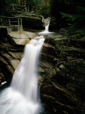 Waterfall in a Forest, Sabbaday Falls, New Hampshire, USA Photographic Print