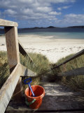 Bucket and Spade on the Steps Leading to the Beach Near Blockhouse Point, Tresco Photographic Print by Fergus Kennedy