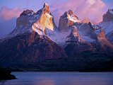 Paine Massif at Dawn, Seen across Lago Pehoe, Torres Del Paine National Park, Chile Photographic Print by John Warburton-lee