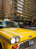 New York City, Manhattan, Yellow Nyc Checker Taxi in the Downtown Financial District of Manhattan,  Photographic Print by Gavin Hellier
