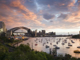 New South Wales, Lavendar Bay Toward the Habour Bridge and the Skyline of Central Sydney, Australia Photographic Print by Andrew Watson