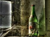 Old Bottle on a Window, Deserted Farm Near San Quirico D'Orcia, Valle De Orcia, Tuscany, Italy Photographic Print by Nadia Isakova