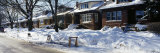 Snow Covered Bungalows in a Row, Reserved Parking Spaces on the Street, Chicago, Illinois, USA Photographic Print by  Panoramic Images