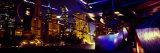 Buildings Lit Up at Night, Millennium Park, Chicago, Cook County, Illinois, USA Photographic Print by  Panoramic Images