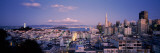 View of a Cityscape from Nob Hill, San Francisco, California, USA Photographic Print by  Panoramic Images