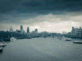 River Thames and City of London, London, England Photographic Print by Jon Arnold