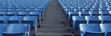 Empty Blue Seats in a Stadium, Soldier Field, Chicago, Illinois, USA Fotografisk trykk av Panoramic Images,