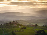 Landscape, San Gimignano, Tuscany, Italy Lámina fotográfica por Doug Pearson