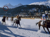 Flat Racing on the Frozen Lake at St Moritz, Switzerland Photographic Print by John Warburton-lee