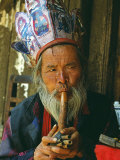 Naxi Dongba, or Wise Man or Shaman, Traditionally Acted as a Mediator with Spirit World Photographie par Amar Grover