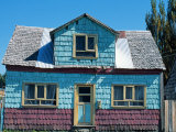 Painted Shingle Covered House, Northern Patagonia, Chile Photographic Print by John Warburton-lee