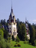 Transylvania, Sinaia, the Tower of Peles Castle, Romania Photographic Print by Nick Laing