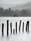 Remains of Jetty in the Mist, Derwentwater, Cumbria, England, UK Photographic Print by Nadia Isakova