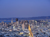California, San Francisco, Skyline Viewed from Twin Peaks, USA Photographic Print by Michele Falzone