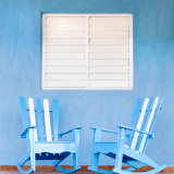 Traditional Rocking Chairs in Vinales, Cuba, Caribbean Photographie par Nadia Isakova