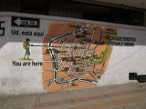 Map Painted on a Wall, Otavalo, Imbabura Province, Ecuador Photographic Print
