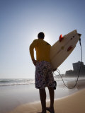 A Surfer Looks Out to the Waves at Manly Beach on Sydney&#39;s North Shore, Australia Photographic Print by Andrew Watson