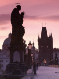 Old Town and Charles Bridge at Dawn, Prague, Czech Republic Photographic Print by Doug Pearson