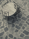 Sardinia, North Western Sardinia, Castelsardo, Cafe Tables, Italy Photographic Print by Walter Bibikow