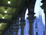 Lombardy, Milan, Piazza Del Duomo, Duomo, Cathedral, Dawn, Italy Photographic Print by Walter Bibikow