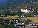 Paro Is Bhutan's Second Largest Town, Photographic Print